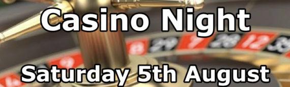 Casino night is this Saturday Night!
